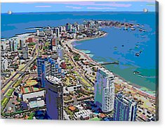 Punta Del Este Acrylic Print by Rod Saavedra-Ferrere