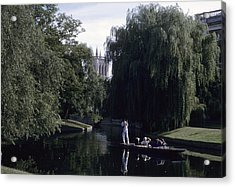 Punters Glide Past Trinity College Acrylic Print by Taylor S. Kennedy