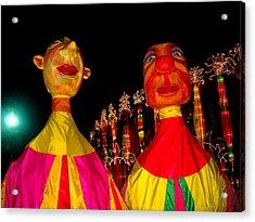 Puppets Acrylic Print by Fareeha Khawaja