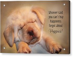 Puppy Happiness Acrylic Print
