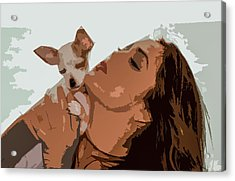 Puppy Love Acrylic Print by Josy Cue