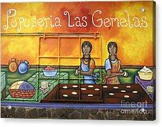 Pupusa Twins El Salvador Acrylic Print
