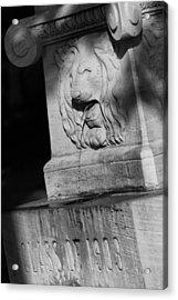 Purdue Lion Fountain Acrylic Print
