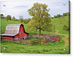 Pure Arkansas - Red Barn Acrylic Print