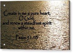 Pure Heart Acrylic Print