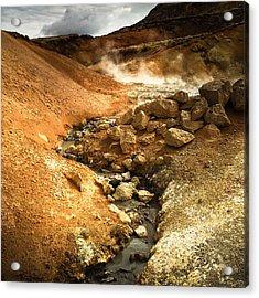 Pure Iceland - Geothermal Area Krysuvik Acrylic Print