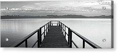 Acrylic Print featuring the photograph Pure State Of Mind Lake Tahoe Pier by Brad Scott