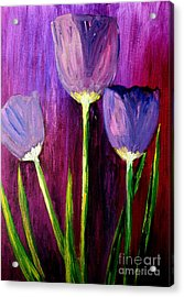 Purely Purple  Acrylic Print by Julie Lueders