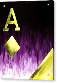 Purple Aces Poker Art2of4 Acrylic Print by Teo Alfonso