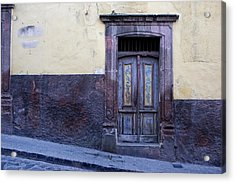Purple And Blue Door Mexico Acrylic Print