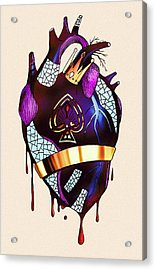 Royal Heart  Acrylic Print by Kenal Louis