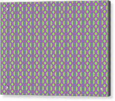 Acrylic Print featuring the digital art Purple And Green by Elizabeth Lock