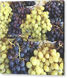Purple And Green Grapes Acrylic Print by Ivy Ho