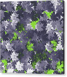 Purple And Green Leaves Acrylic Print by Methune Hively