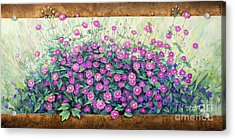 Purple And Pink Flowers Acrylic Print