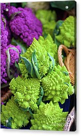 Purple And Romanesco Cauliflower Acrylic Print