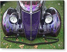 Purple Antique Ford Acrylic Print