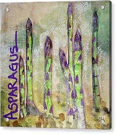 Purple Asparagus Acrylic Print by Kim Nelson