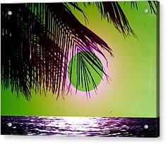 Purple Beach Acrylic Print by Juana Maria Garcia-Domenech