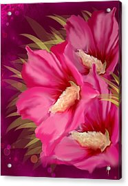 Acrylic Print featuring the painting Purple Beauty by Veronica Minozzi