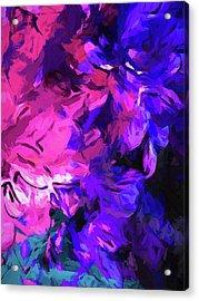 Purple Behind Pink Acrylic Print