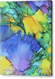 Purple Bird Of Paradise Acrylic Print