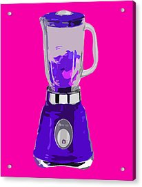 Purple Blender Acrylic Print by Peter Oconor