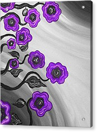 Purple Blooms Acrylic Print by Brenda Higginson