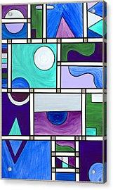 Purple-blue-green Abstract 1 Acrylic Print by Patty Vicknair