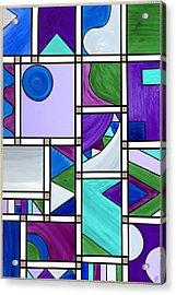 Purple-blue-green Abstract 3 Acrylic Print by Patty Vicknair