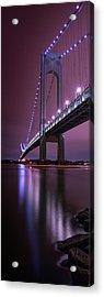 Acrylic Print featuring the photograph Purple Bridge by Edgars Erglis