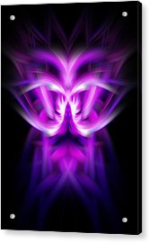 Acrylic Print featuring the photograph Purple Bug by Cherie Duran
