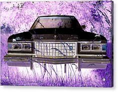 Purple Cadillac Acrylic Print by Julie Niemela