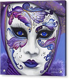 Purple Carnival Mask  Acrylic Print by Patty Vicknair