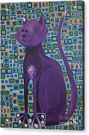 Purple Cat Acrylic Print