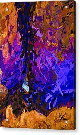 Acrylic Print featuring the painting Purple Cave by Joan Reese