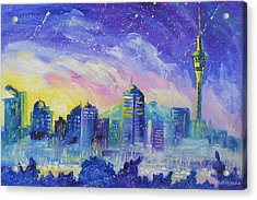 Purple City Acrylic Print