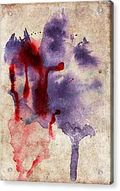 Purple Color Splash Acrylic Print