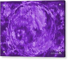Purple Crystal Ball Acrylic Print by Roxy Riou