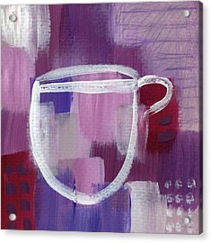 Purple Cup- Art By Linda Woods Acrylic Print