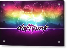 Purple Daft Punk - 34 Acrylic Print