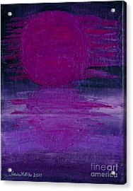 Acrylic Print featuring the painting Purple Dawn by Ania M Milo
