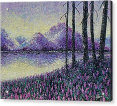 Acrylic Print featuring the painting Purple Daze by Susan DeLain