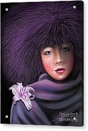 Acrylic Print featuring the painting Purple Delight by Sgn