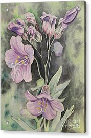 Purple Delight Wildflowers Acrylic Print