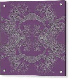 Purple Desire Tree 8 Hybrid 1 Acrylic Print