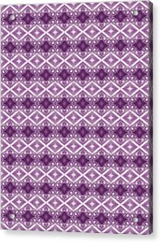 Acrylic Print featuring the digital art Purple Diamonds by Elizabeth Lock