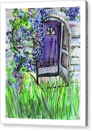 Purple Doorway Acrylic Print