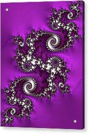 Purple Dragon Acrylic Print