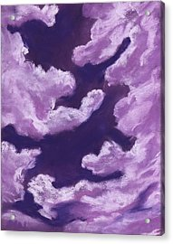 Purple Dream - Sky And Clouds Collection Acrylic Print